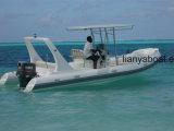 Liya 22FT costela de socorro de emergência com Bimini Barco