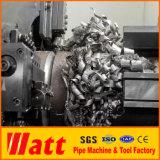 Corte de alta velocidad inmóvil del tubo y tubo frío del cortador 50-325m m de la máquina de cara del extremo de tubo de la máquina que bisela