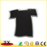 Magnete permanente del frigorifero della squadra della sfera del magnete di figura della maglietta del metallo su ordinazione