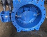 Pn10 Pn16 grosses Größen-Doppelt-geflanschte Exzenterdrosselventile mit EPDM Dichtung