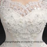 Reizvolles A - Zeile Spitze-Hochzeits-Kleid-romantische blosse Backless Braut-Kleider