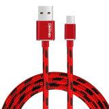 2a de carga rápida de trenzado Nylon Cable USB del teléfono móvil