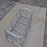 Cesta del acoplamiento de alambre de acero inoxidable para la cesta médica/de compras