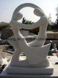 De hand sneed de Witte Kunst Statue&Sculpture van de Steen voor OpenluchtDecoratie
