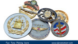 Die Struck Metal Challenge Coin com Diamond Cut Edge