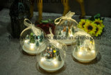 L'éclairage vers le haut LED en verre de Noël la pendaison ornements à billes