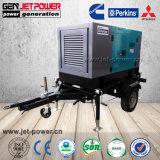 Rainproof 150kVA insonorizado generador eléctrico Diesel con Mobile Trailer