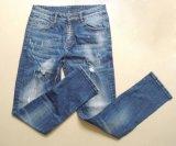 Alta qualidade nova da forma e lavagem quebrada com as calças de brim especiais do projeto para o homem (HDMJ0002-17)