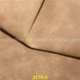 Telas de cuero revestidas de la PU del Faux para la fabricación del equipaje