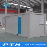 El cuarto de baño/wc portátil utiliza espacio para la venta de contenedores