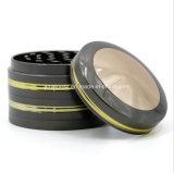 4 Teile 63mm neue die Art-Zink-Legierungs-Goldseiten-zeichnet konvexe Schutzkappen-rauchenden Tabak-Schleifer