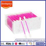 Doubles tampons de coton en plastique stériles principaux remplaçables