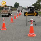 Indicatore luminoso d'avvertimento solare di sicurezza stradale con la parentesi per il cono di traffico