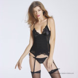 Lingerie sexy de vente chaude de Babydoll de sous-vêtements de Bustiers de soutiens-gorge de dames Bodusuit