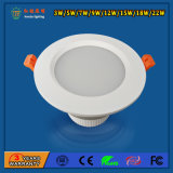 IP20 15W Aluminium Downlight LED Plafonnier pour Supermarchés
