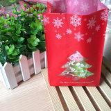 Feliz Navidad galletas de la bolsa de papel Kraft Bolsas para embalaje Snack galletas dulces de fiesta de Navidad decoración de la bolsa de plástico