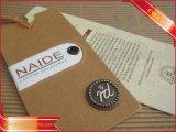 クラフト紙の品質表示票によって印刷される衣服のペーパーこつの札