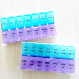 Rectángulo semanal de la píldora del almacenaje de la medicina
