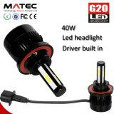 Auto bulbos 80W 96W do farol do diodo emissor de luz do carro da ESPIGA de C6 G5 G20, 40W G20 H1 H3 H11 H13 9007 9005 9006 farol do diodo emissor de luz de Hb3 Hb4 5202 H4 H16 H7 H4