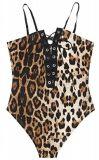 Usager sans manche sexy Esg10436 occasionnel de combinaison de salopette de barboteuses d'impression de léopard de femmes