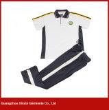 자수 (U33)를 인쇄하는 자신의 로고를 가진 제조 좋은 품질 학교 의복