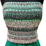 O costume Strapless de cristal dos vestidos de partido do baile de finalistas do verde azul perla o vestido de noite Z205