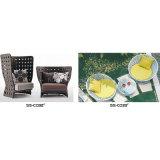 A melhores tabela e cadeiras pretas de venda do balcão do Rattan do PE