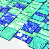 Уникально плитки мозаики цветного стекла искусствоа конструкции покрашенные кристаллом