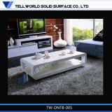 Haut de marbre blanc brillant Table à manger Chaises Meubles de salle à manger