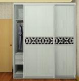 Garde-robe stratifiée de porte coulissante de modèle moderne pour la chambre à coucher