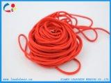 Cordon élastique respectueux de l'environnement rouge rond mince pour le sac de vêtement