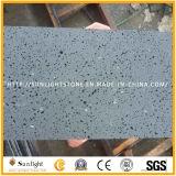 Pierre noire/grise de Hainan rectifié normal de basalte/lave pour paver la tuile
