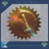 Custome une étiquette adhésive de collant de laser d'hologramme d'utilisation de temps