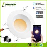 15W E26 6 polegada na luz de tecto do aplicativo Telefone Inteligente controlado baixar as luzes de LED