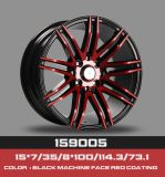 Taille16*7.0 and 35 PCD 8X100/114.3 CB 67.1 Hot Sale HT-5334 Core Rivet rouge Aftermarket roue de roue en alliage, Mag