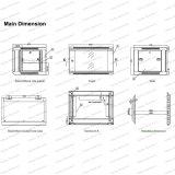 [غما] [6و-15و] معدن [رك نكلوسور] [تلكمّونيكأيشن&بروأدكستينغ] جدار يعلى خزانة