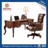 Rui Fu Xiang Derriban de Antigüedades de lujo en madera tallada nuevos muebles de oficina con certificado SGS (AG318/4 Cajones/1/ Cajón de teclado de color de madera maciza de roble)