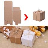 Boîte carrée de empaquetage à sucrerie de papier de cadeau de faveur de mariage de forme de sac d'usager