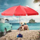 Зонтик пляжа логоса зонтика пляжа изготовленный на заказ с наклоном и Поляк выдвигать