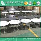 옥외 둥근 탁자 정원 커피용 탁자 알루미늄 탁자 옥외 분말 코팅 테이블 현대 탁자