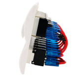 Alta qualità inserita/disinserita chiara bianca impermeabile blu dell'interruttore di attuatore di CC 12V/24V LED del comitato dell'interruttore di attuatore del fante di marina/barca dei 6 gruppi LED