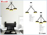실내 점화를 위한 간단한 까만 알루미늄 LED 펀던트 램프
