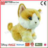 Chat orange bourré par jouet animal mou réaliste de peluche d'ASTM