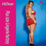 Plus Size Sexy Club Halter Red Clubwear Lingeries para as mulheres de moda