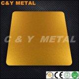 Het decoratieve Blad van het Roestvrij staal met Spiegel zandstraalt en Ti-Gouden Kleuren