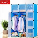 Preiswerter Plastikgarderoben-Wandschrank Plastikder garderoben-Schlafzimmer-Möbel-kundenspezifischer Antike-DIY