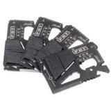 Couleur noire Outil couteau de carte de crédit avec de multiples fonctions