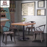 (SP-CS857) cor de ferrugem Industrial Restaurante Mobiliário mesa e cadeira de metal