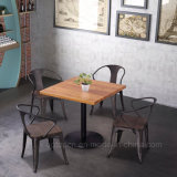 (SP-CS857) Tabela do metal do restaurante da cor da oxidação e mobília industriais da cadeira