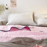 Edredón acolchado rosado 100% del algodón del estilo americano para los lechos
